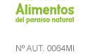 Sello Alimentos del Paraiso Natural
