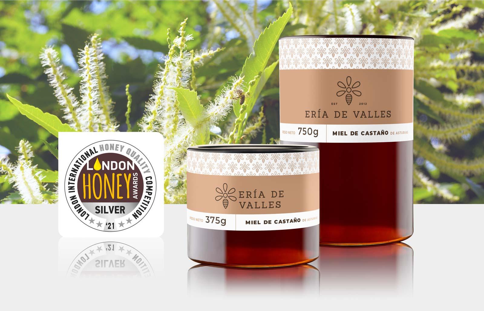 Medalla de Plata Miel de Castaño en el London International Honey Awards