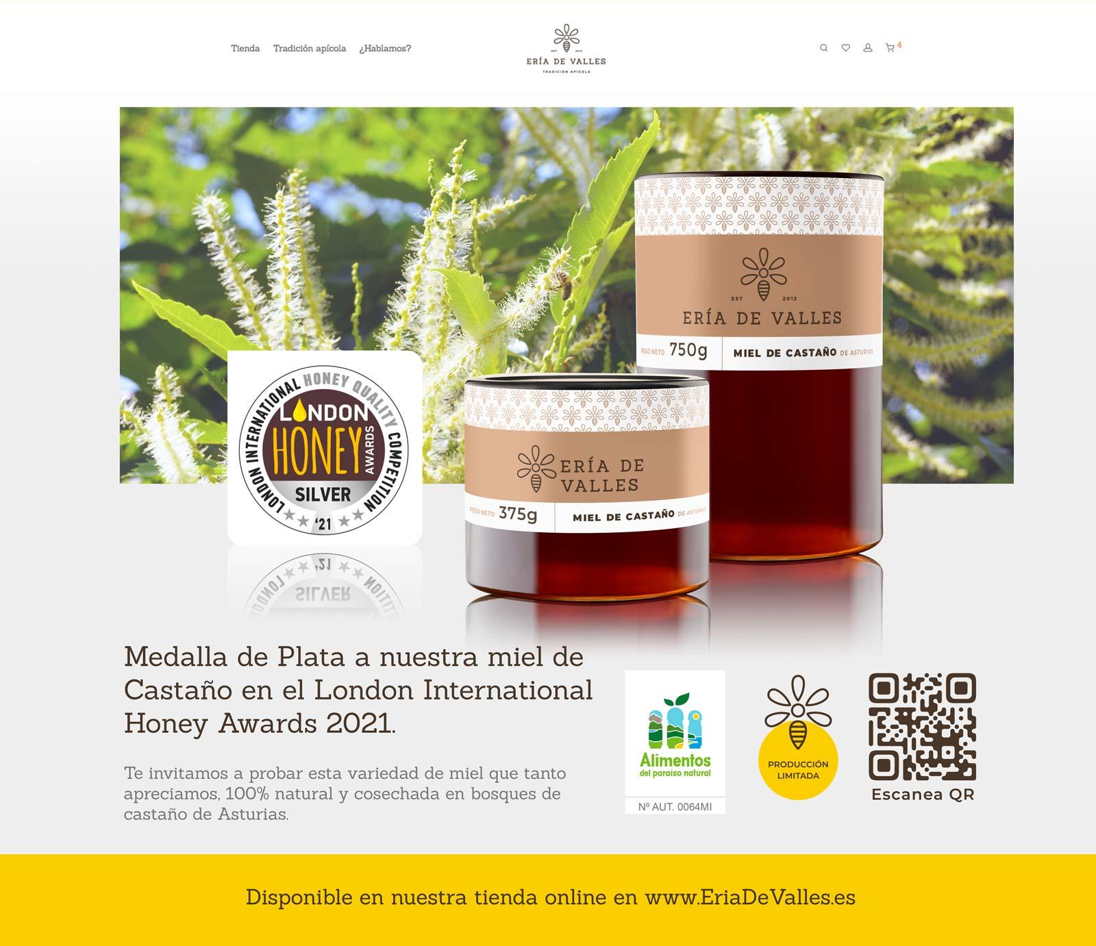 Nuevo galardon a nuestra miel en el London International Honey Awards 2021
